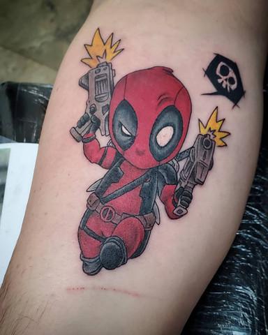 Deadpool Chibi tattoo