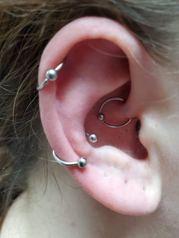 Helix, Conch & Daith piercing