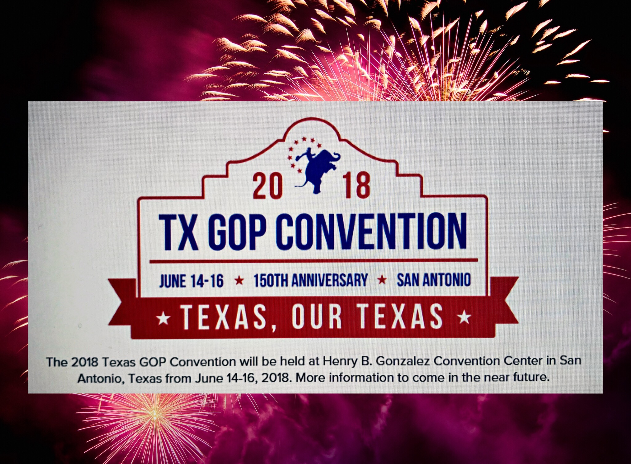 2018 Convention logo with fireworks