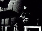 1995 Deborah Warner & Fiona Shaw in rehearsal for The Waste Land, Old Magazine Fort, Phoenix Park, Dublin