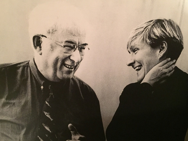 1999 Deborah Warner and Seamus Heaney, during rehearsal for The Diary of One who Vanished