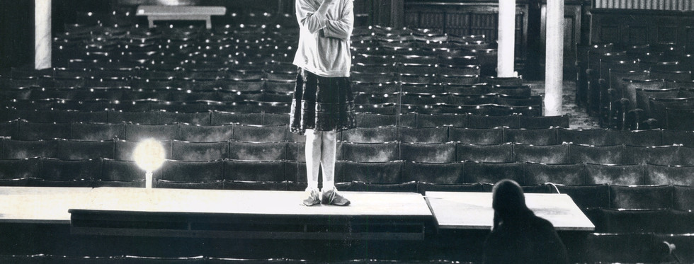 Fiona Shaw rehearsing Footfalls, Garrick Theatre