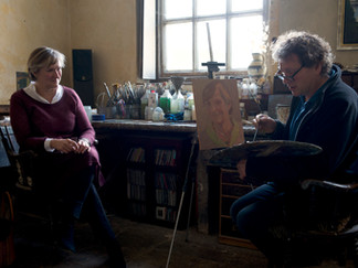 Deborah Warner and painter Francis Hamel