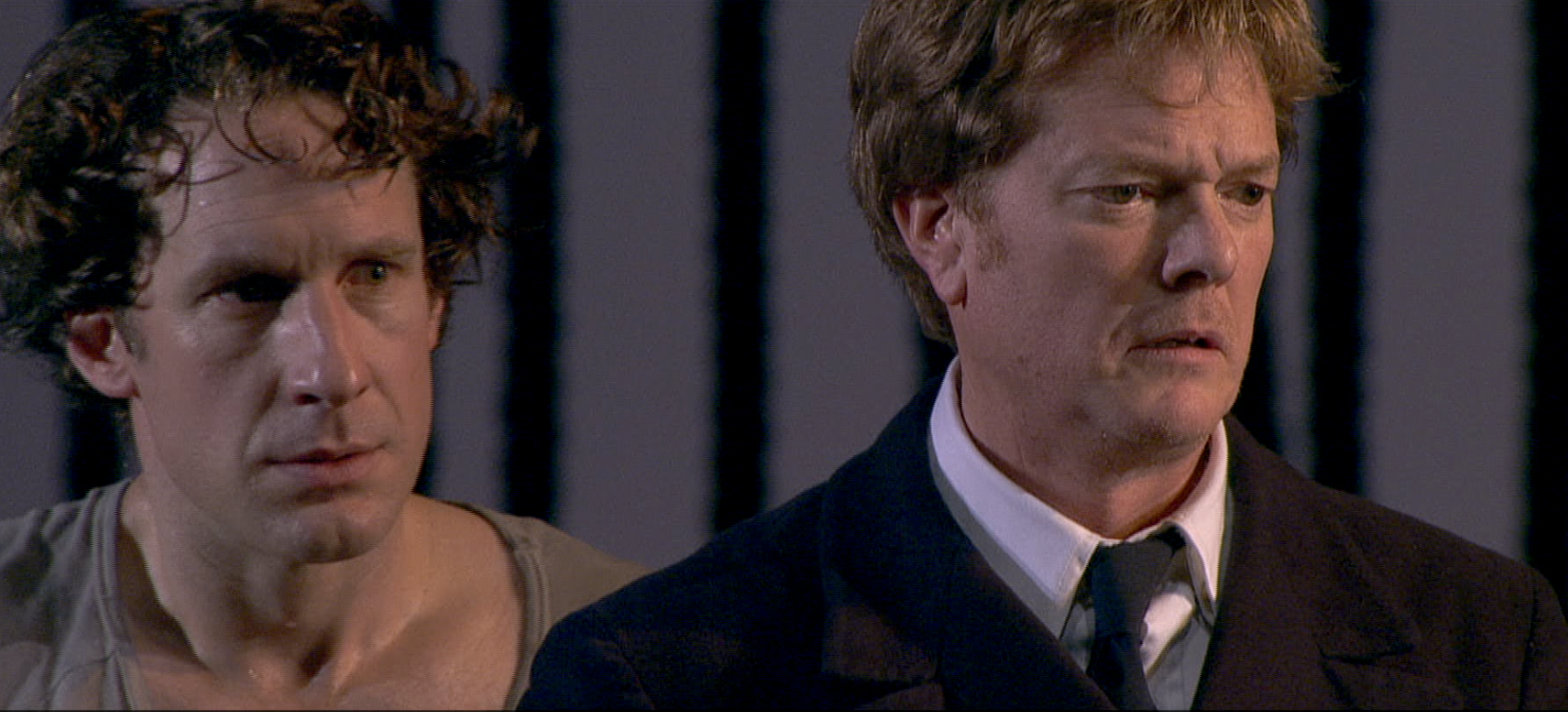 Jacques Imbrailo (Billy Budd) and Toby Spence (Captain Vere)