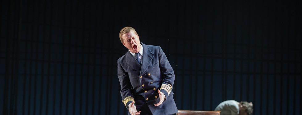 Toby Spence (Captain Vere) and John Reylea (Claggart)
