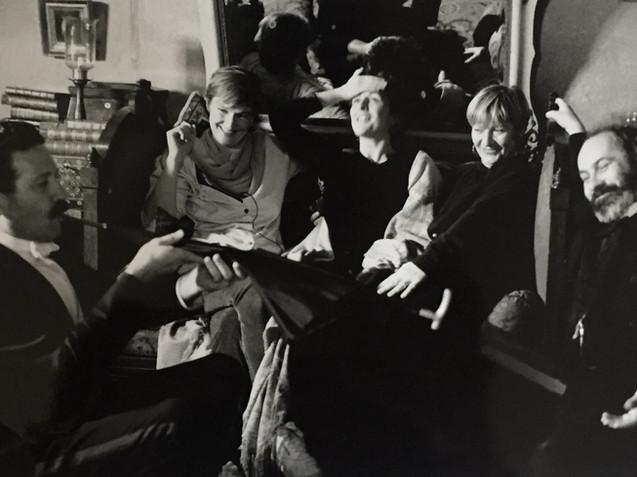 1993 Donal McCann, Deborah Warner, Fiona Shaw, Hildegard Bechtler, Nicholas Woodeson filming Hedda Gabler
