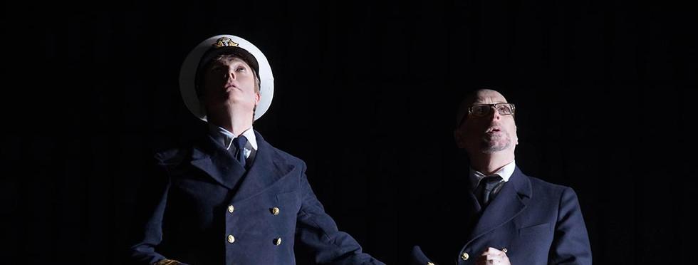 Toby Spence (Captain Vere) and Brindley Sherratt (Claggart)
