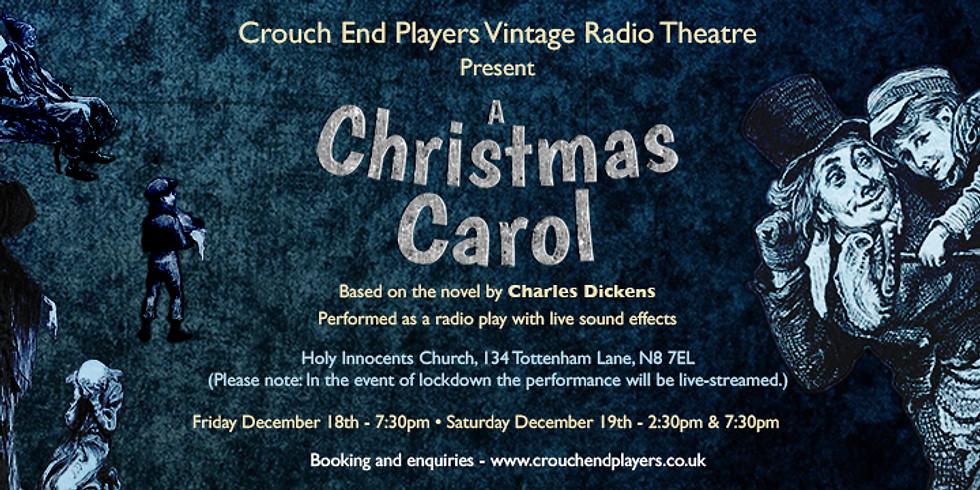 A Christmas Carol Friday Dec 18th 19:30