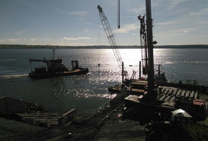 Irish Sea Contractors_installing filter