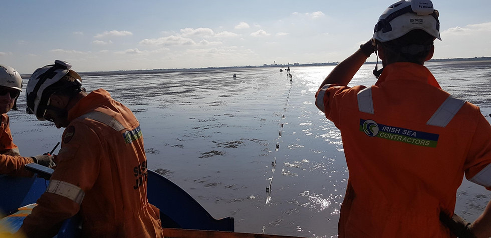 Irish Sea Contractors nearshore subsea cable installation project