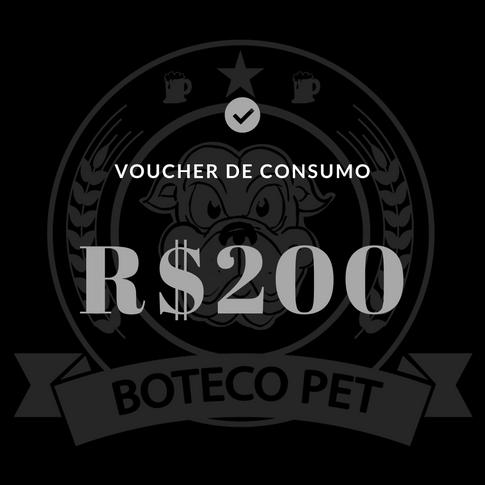 Voucher de consumo - R$200