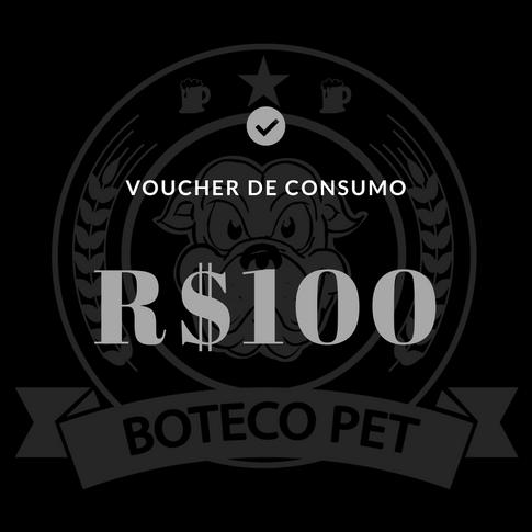 Voucher de consumo - R$100