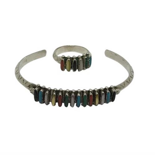 PALOMA - Native American Multi Stone Ring and Bracelet Set