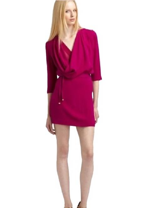 DIANE VON FURSTENBERG - Roseberry Rachael Lily Crepe Dress 12/L-XL