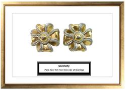 Givenchy Paris New York Two Tone Cli