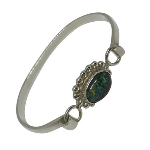 ARTISAN MEXICO - 925 Sterling Vintage Cuff with Vibrant stone
