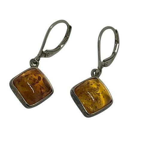 ARTISAN - Vintage Sterling Square Dangle Earrings