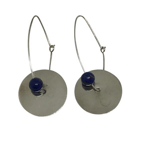 ARTISAN - Vintage Lapis & Sterling Earrings