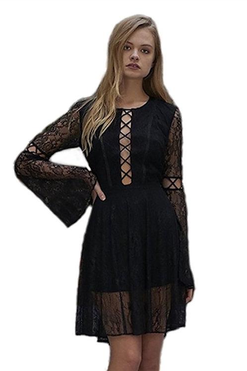 THE JETSET DIARIES - Majestic Mini Dress in Black S