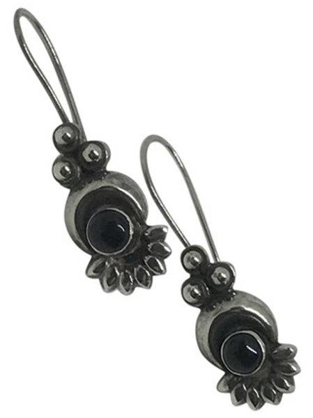 ARTISAN - Vintage Onyx 925 Drop Earrings