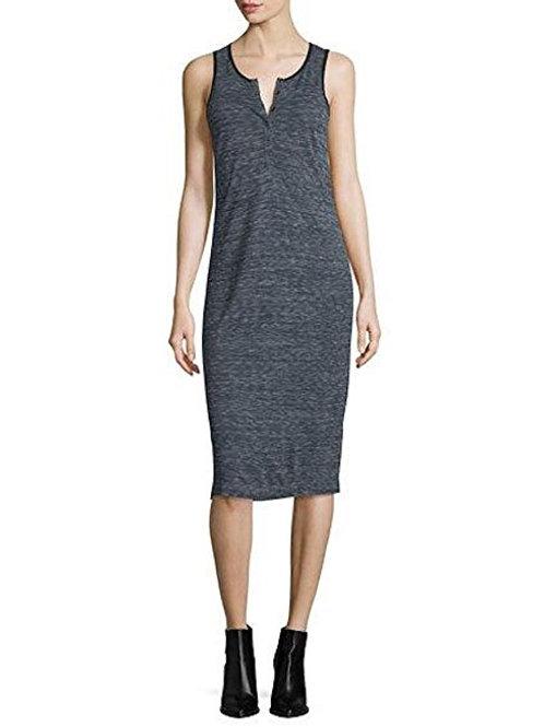 Atm ANTHONY THOMAS MELILLO - Melange Henley Jersey Dress