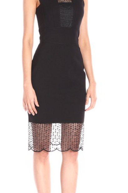 YOANA BARASCHI - Women's Birdcage Compact Knit Body Dress M