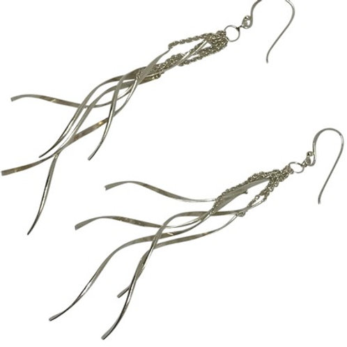 "ARTISAN - Tinsel 3.5"" Dangle Earrings"