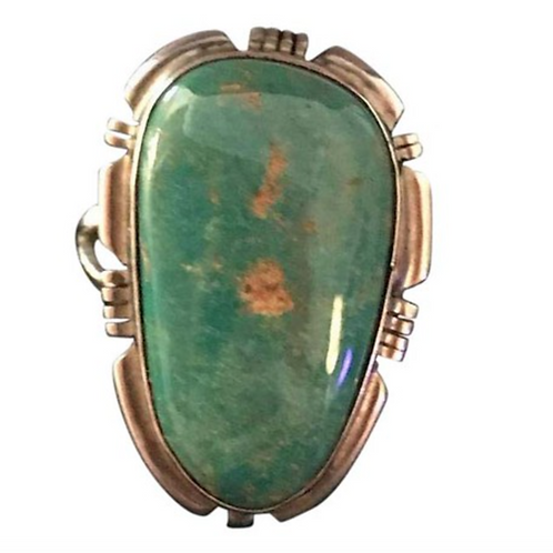 EDDIE SECATERO - Turquoise & Sterling Ring Size 6