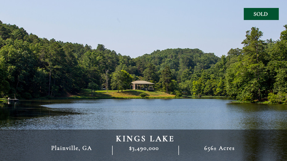 Kings Lake is 656± acres located in northwest Georgia near the town of Plainville, which is just over one hour from Atlanta.  Kings Lake is a fantastic outdoor recreational property with strong water resources.