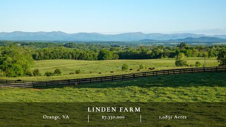 Linden Farm encompasses 1,083± acres in the heart of the picturesque Virginia Piedmont.