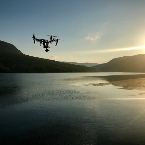 Shooting sunrise aerials in the Tennessee River Gorge