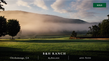 Stunning 400± acres in McLemore Cove.  Big views.  Exquisite equestrian facilities.  Endless recreational opportunities.  Spectacular main house and guest lodge.  Great water resources.  Meticulously maintained.  40 minutes from Chattanooga and 1.75 hours from Atlanta.