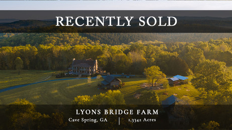 Lyons Bridge Farm is an exceptionally beautiful and well-rounded property located in a really nice nook of northwest Georgia. It isn't often that a property of this size and caliber becomes available with such convenience to Atlanta.