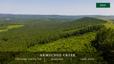 Armuchee Creek is a 1,937± acre commercial timber tract located in Northwest Georgia's Chattooga County. The property has a long and focused history of professional timber management. Armuchee Creek represents an excellent timberland investment opportunity with approximately 1,316 acres of productive pine plantations and good infrastructure providing ready access to the nearby markets.