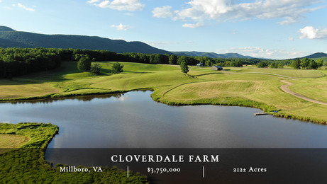 Cloverdale Farm is comprised of 212± acres in the heart of the Allegheny Mountains and Bath County's scenic Cloverdale Valley. The farm is bordered to the west by the George Washington National Forest, which provides immediate access to endless recreational opportunities and thousands of acres of protected lands