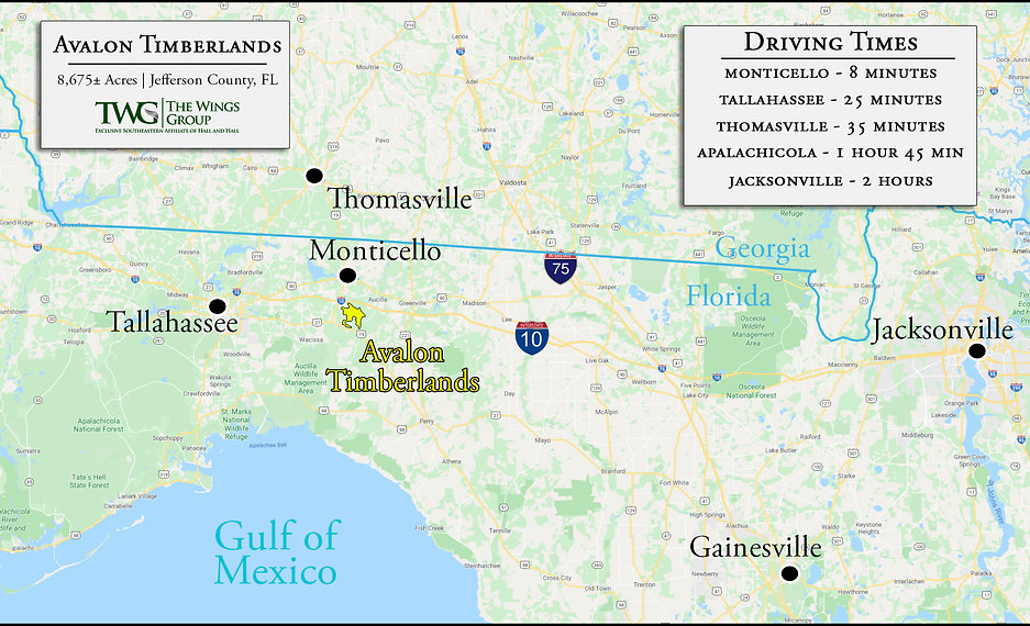 AVALON TIMBERLANDS Wide General Location