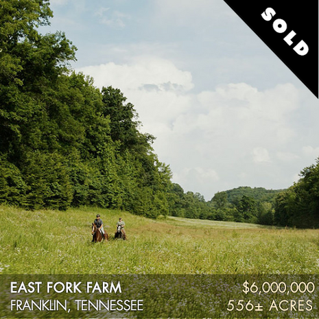 East Fork Farm is a gorgeous 556± acre farm located just minutes from Nashville and Franklin, Tennessee, near the charming community of Leiper's Fork. Rarely do you find a property of this stature situated as conveniently to these culturally significant and buzzing urban areas. It offers the best of both worlds – the serenity of a peaceful country setting and the ease of access to the amenities of metropolitan areas. Recreation abounds on this landscape and includes everything from horseback riding to hunting to fishing to hiking to camping and just plain relaxing.
