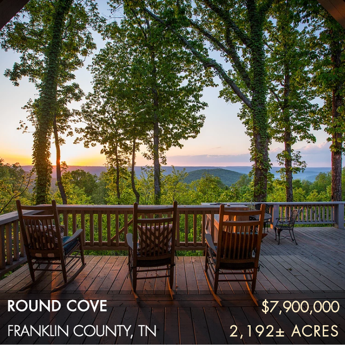 Situated on the Cumberland Plateau, Round Cove is 2,192± acres near Winchester, Tennessee. The property boasts an exceptional main home with amazing Appalachia views overlooking the valley below known as Round Cove. This property encompasses the entire northern 2 miles of Round Cove. Adding to this expansive landscape are 74,000 acres of adjacent protected lands. Built in 2005 with a major addition and renovation completed in 2016, the main home is ~5,475 sq. ft.. Round Cove is self-sufficient and totally off the grid. The property is well maintained with an impressive road system and a dedicated wildlife management program.