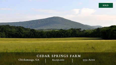 575± acres in one of Georgia's most scenic areas, McLemore Cove.  Abuts 20,000-acre Pigeon Mountain WMA.  35 minutes south of Chattanooga.  Gorgeous views.  Endless recreational opportunities.  First time on market in 43 years.  Great location.