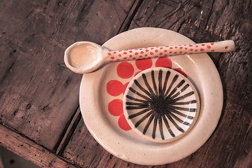 Set of handmade pottery by Hoy.