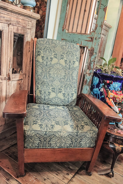 Morris And Co.Arts And Crafts Recoil Arm Chair. Upholstered With ORIGINAL Fabric