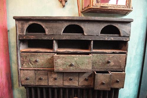 Distressed vintage kitchen unit.