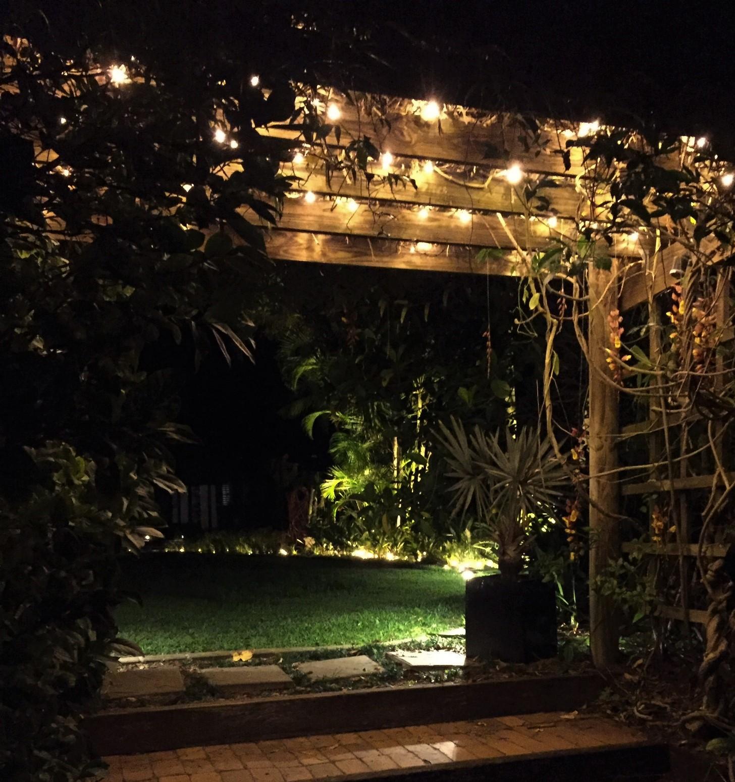Private garden lighting
