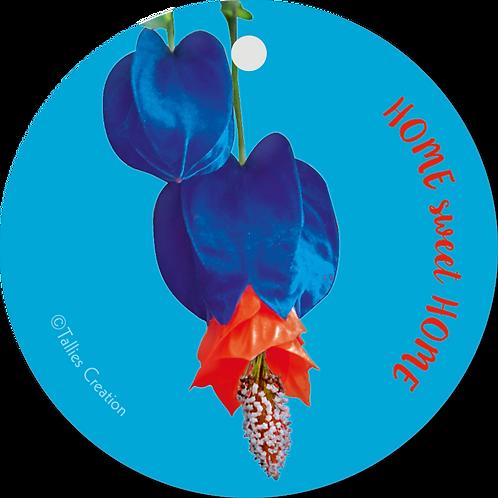 Home sweet home - Flowerpower - set van 5 kaarten