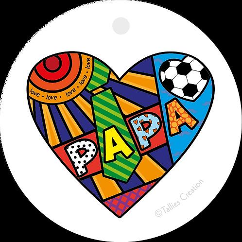 Papa - Popart - set van 5 kaarten