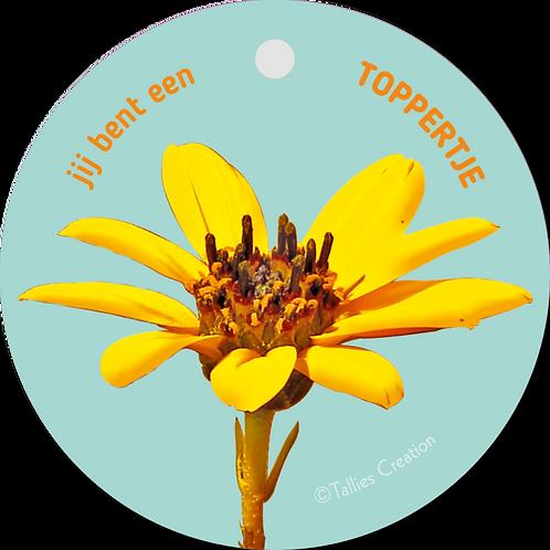 Toppertje - Flowerpower - set van 5 kaarten