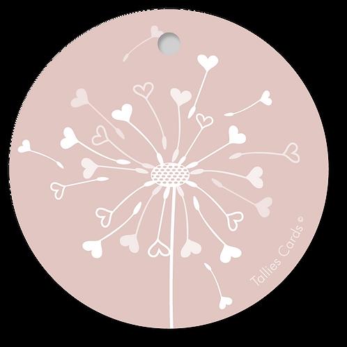 Paardenbloem roze - PrimoFiori - set van 5 kaarten