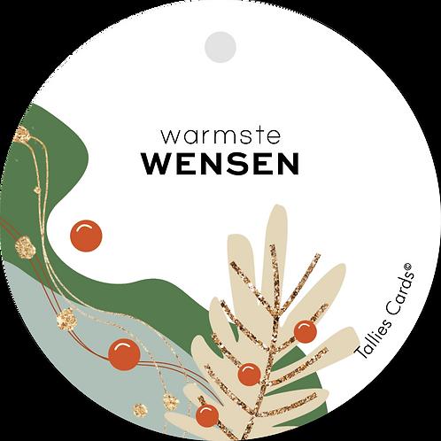Warmste wensen - Abstract - set van 5 kaarten
