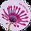 Thumbnail: Hele dikke kus - Flowerpower - set van 5 kaarten