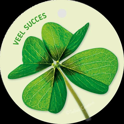 Veel succes - Flowerpower - set van 5 kaarten